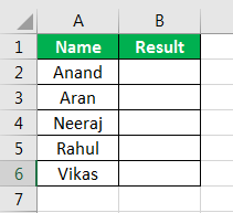 MID Formula in Excel Example 1
