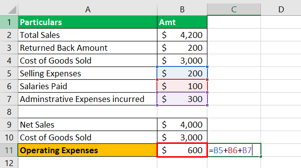 Operating Income Example 1-2