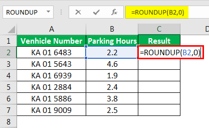Round Formula in Excel example 2-1