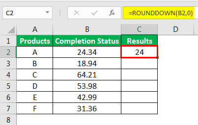 Round Formula in Excel example 3-2