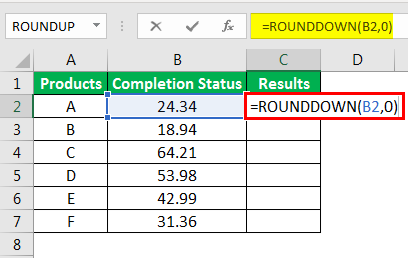 Round Formula in Excel example 3