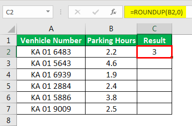 Round Formula in Excel example 4-11