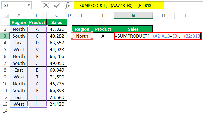 SUMPRODUCT Logic Function Example 2-4
