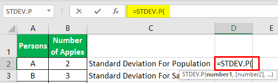 Standard Deviation Example 1-1
