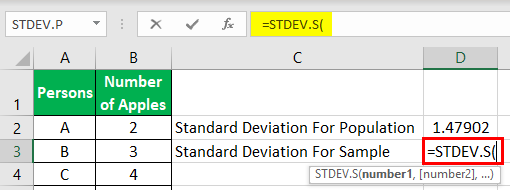 Standard Deviation Example 1-4