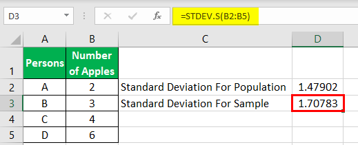 Standard Deviation Example 1-6