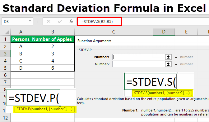 Standard Deviation Formula in Excel | Calculate STDEV P