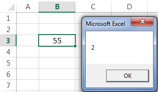 VBA Active Cell Example 2-9