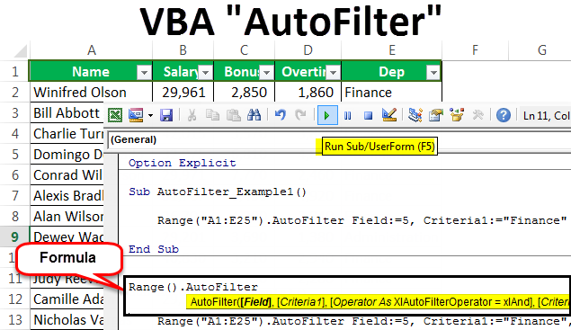VBA AutoFilter | Complete Guide to Excel VBA Autofilter