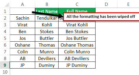 VBA Clear contents Example 3