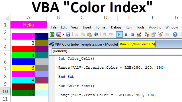 VBA Color Index | Top Ways to use Color Index Property in ...