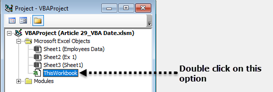 VBA Date Function Example 2-3