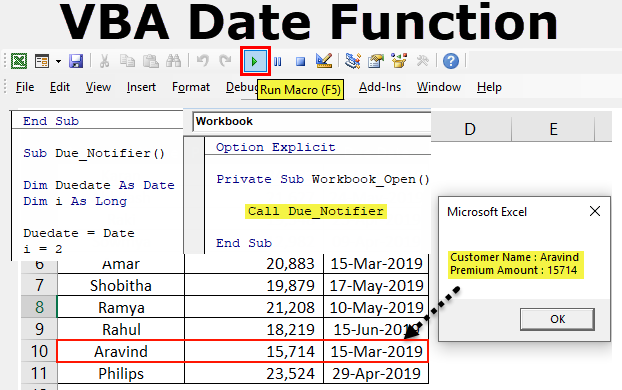 VBA Date Function | How to use Date Function in VBA? (with ...