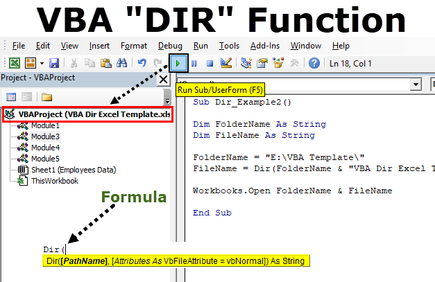 VBA Dir Function