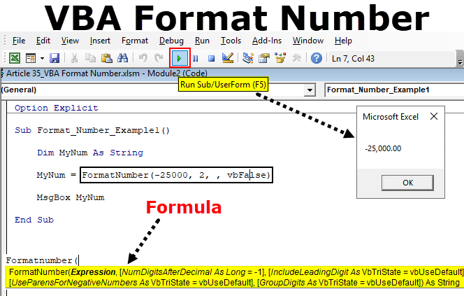 VBA Format Number in Excel