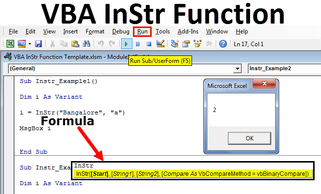 VBA InStr Function