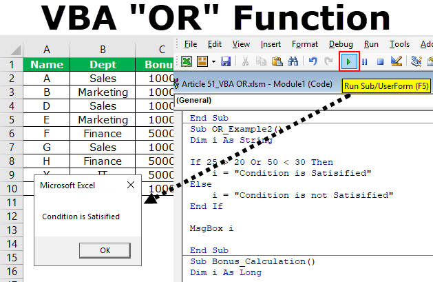 VBA OR Function (Examples) | How to Use OR Logical Operator ...