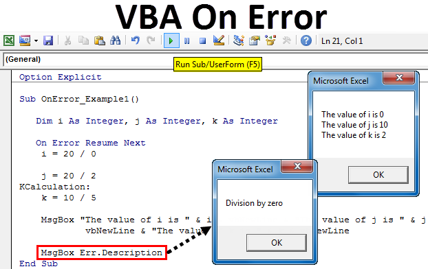 VBA On Error