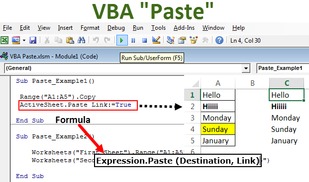 VBA Paste (Step by Step Guide) | How to Paste Data using VBA