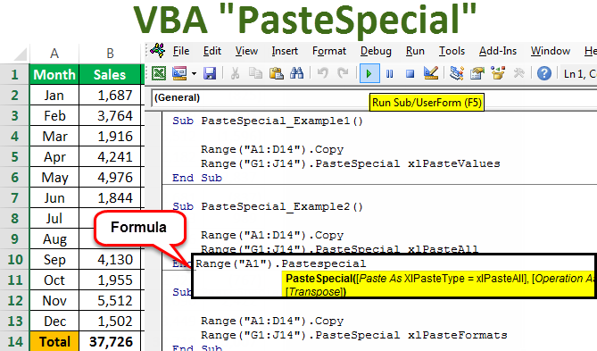 VBA Paste Special | Top 5 Ways to Use VBA PasteSpecial Function?