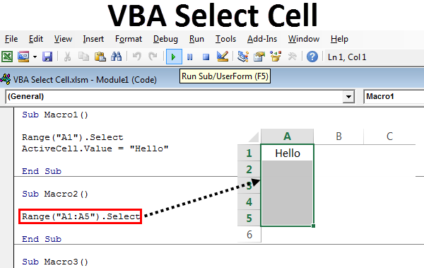 VBA Select Cell | How to Select Cell / Range Using VBA Code in Excel?