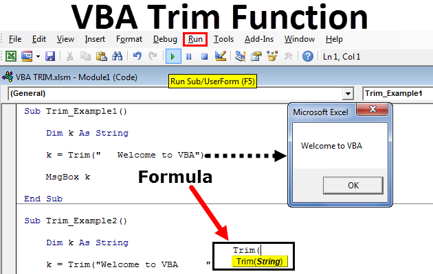 VBA TRIM Function | How to Use VBA TRIM Function? (Step by Step)