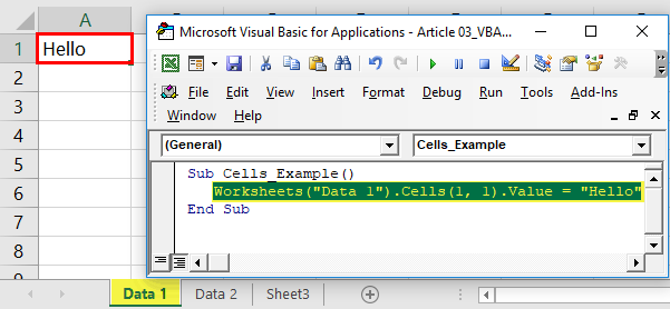 VBA Cells Excel | How to use Cell Reference Property with ...
