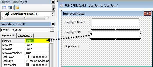 VBA userform Example 1-17