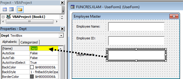 VBA userform Example 1-18