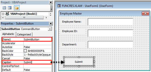 VBA userform Example 1-20