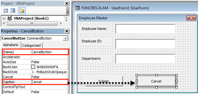 VBA userform Example 1-21