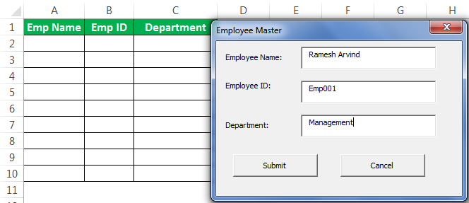 VBA userform Example 1-31