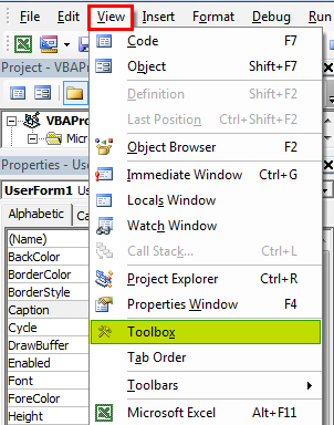 VBA userform Example 1-5