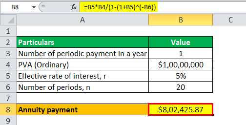 annuity formula example 1.3