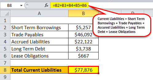 current liabilities example 1