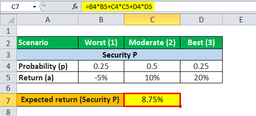 expected value formula example 1.3