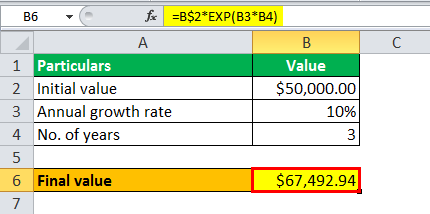 calculate exponential growth example 1.11
