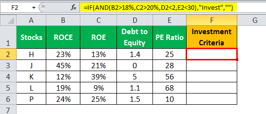 If and in Excel example 3.2 output