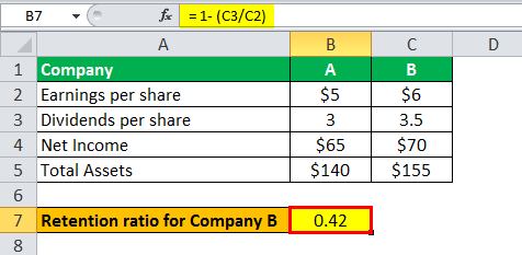internal growth rate formula example 1.3