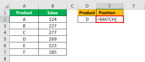 match formula excel example 1.2