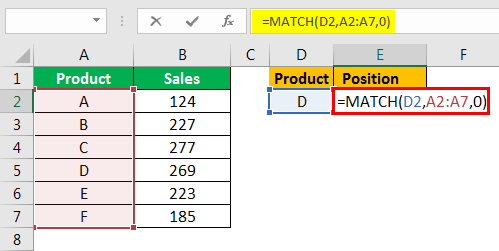 match formula excel example 1.3