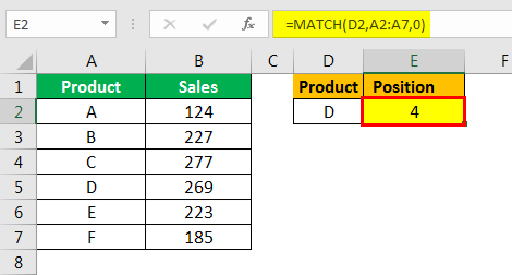 match formula excel example 1.4