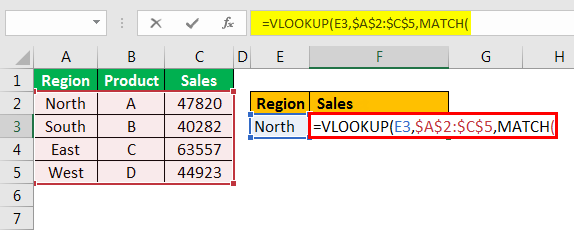 example 3.3 with Vlookup