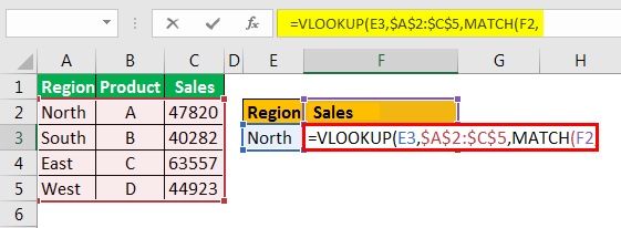 example 3.4 with Vlookup