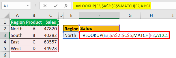 example 3.5 with Vlookup