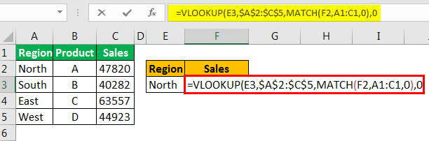 example 3.6 with Vlookup