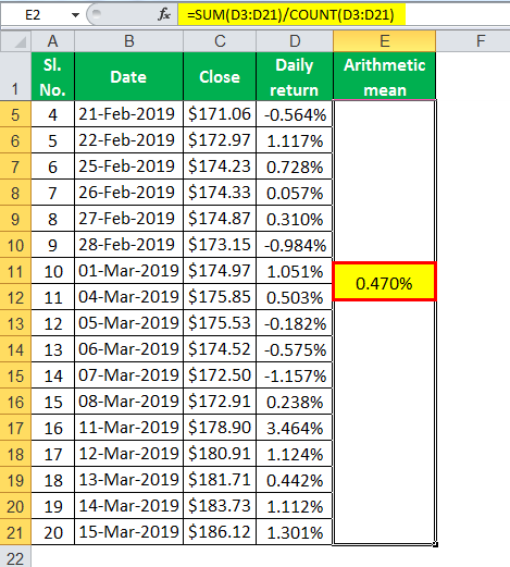 Arithmetic calculation example 2.3