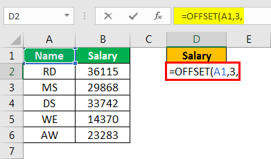 offset excel example 1.4