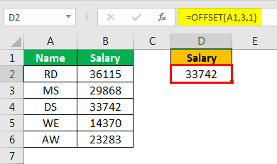offset excel example 1.6