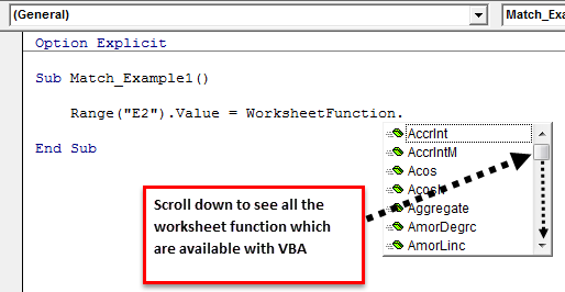 VBA Match | How to Use Match Function in VBA Excel? (Examples)
